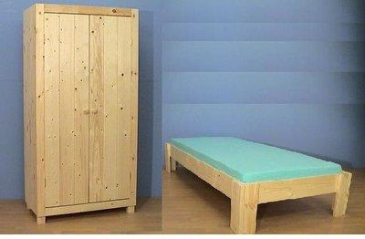 1-pers.bed BAS met 2-deurskast AMELAND